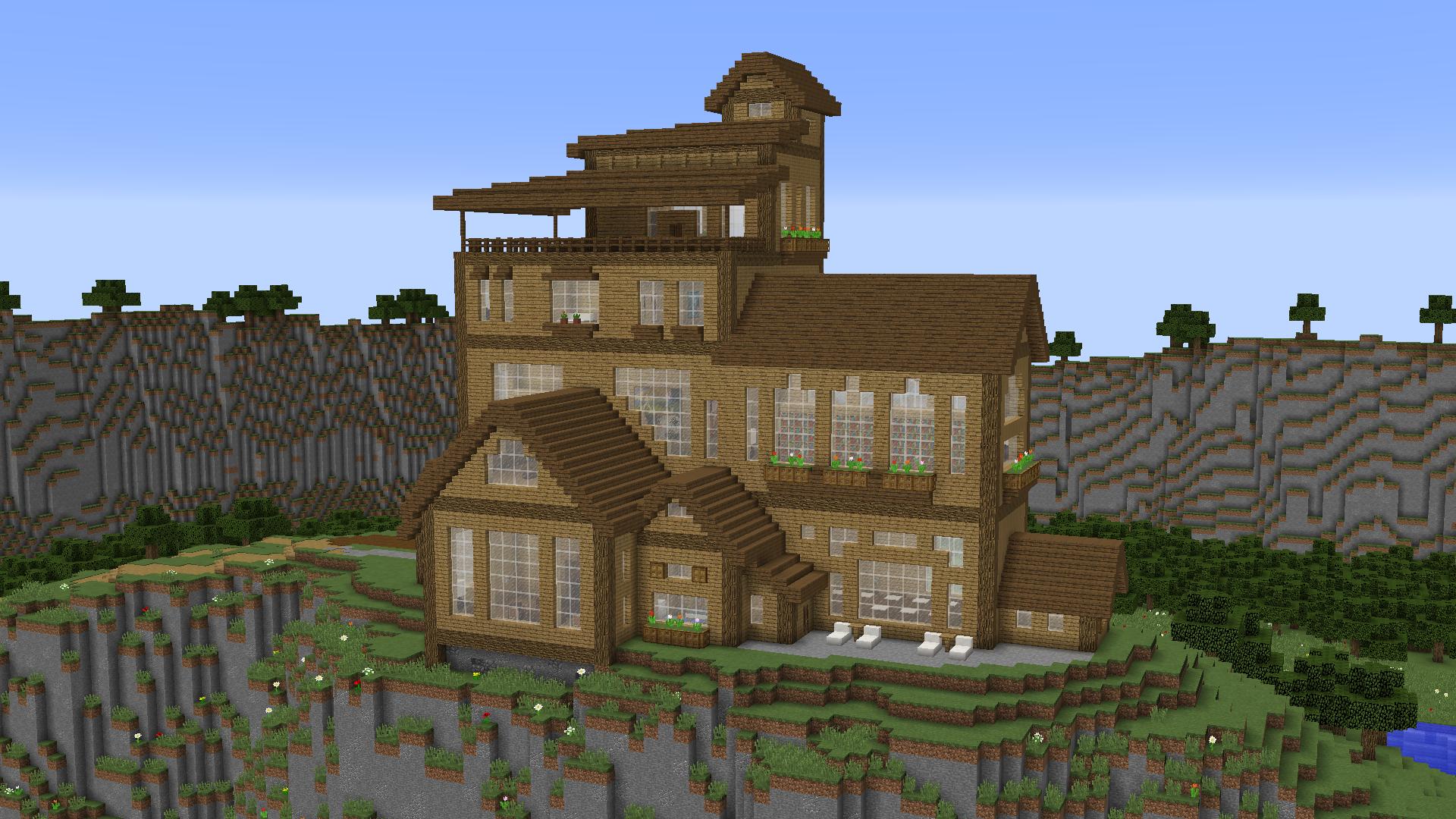 Baixar «Cliffside Wooden Mansion» (12 mb) mapa para Minecraft